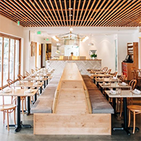"""interior shot of osteria moto restaurant in sacramento"""